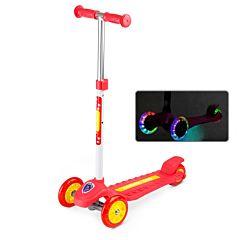 Самокат Small Rider Cosmic Zoo Galaxy One со светящимися колесами (красный)