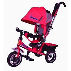 """Трехколесный велосипед Trike Flower с надувными колесами 10"""" и 8"""" (красный)"""