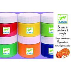 Пальчиковые краски Djeco (6 штук)