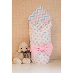 Одеяло на выписку летнее Арго Звездочка (розовое)