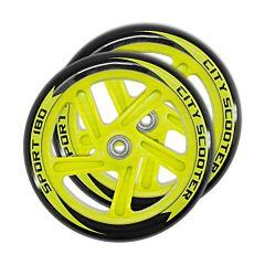 Набор колес и подшипников для самоката TechTeam 180 мм (желтый)