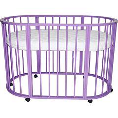 Кроватка-трансформер Valle Bianca 4 в 1 (фиолетовый)