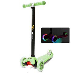 Самокат Hubster Maxi Flash со светящимися колесами (зеленый)
