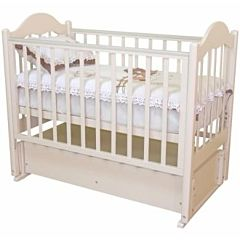 Кроватка детская Можга Кармелина (продольный маятник) (слоновая кость)