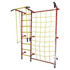 Детский спортивный комплекс Лидер С-03 М с сеткой (красно-желтый)