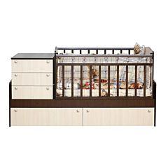Кровать трансформер Daka Baby Укачай-ка 04 с механическим маятником Kombe (Комбинированный)