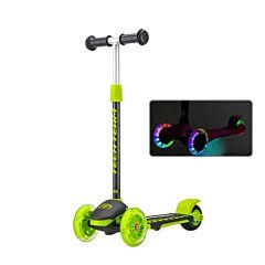 Самокат TechTeam TT Lambo со светящимися колесами (зеленый)
