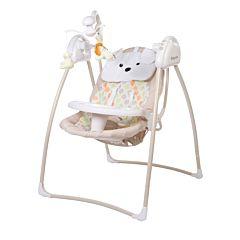 Электрокачели Baby Care Butterfly с адаптером (бежевый)