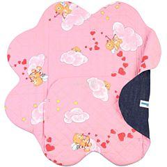 Конверт Ramili Denim Style с прорезями для ремней безопасности Pink