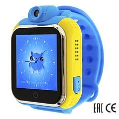 Детские часы с GPS-трекером SmartBabyWatch Q75 (G10) голубые