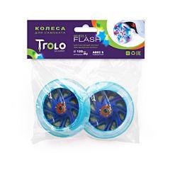 Колеса светящиеся для самоката Trolo 120 мм (синий)
