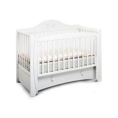 Кроватка детская Papaloni Olivia (продольный маятник) (Белый)