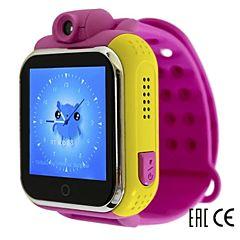 Детские часы с GPS-трекером SmartBabyWatch Q75 (G10) розовые