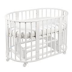 Кроватка-трансформер Sweet Baby Delizia (поперечный маятник) (белый)