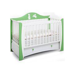 Кроватка детская Papaloni Olivia (продольный маятник) (Слива венгерка/белый)