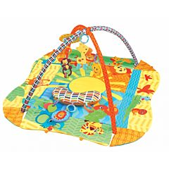 Развивающий коврик Fitch Baby 3 Ways to Play (желтый)