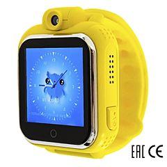 Детские часы с GPS-трекером SmartBabyWatch Q75 (G10) желтые