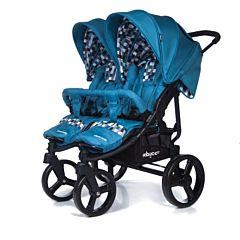Коляска прогулочная для двойни Baby Care Cruze DUO 2017 (Blue)