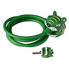 Замок тросовый Crazy Safety (Green Tiger)