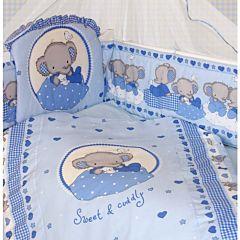 Комплект постельного белья Золотой Гусь Степашка (голубой) (7 предметов)