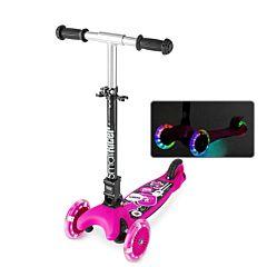 Самокат Small Rider Randy Flash со светящимися колесами и регулировкой руля (розовый)