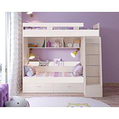 Кровать двухъярусная Ярофф Юниор-6 (белое дерево/белое дерево)