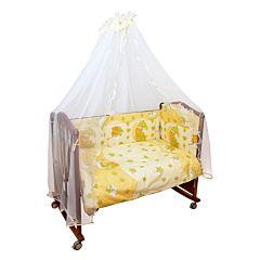 Бампер для кроватки Сонный Гномик Мишкин Сон (бежевый)