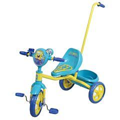 Трехколесный велосипед с ручкой 1Toy Губка Боб
