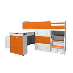 Кровать-чердак Ярофф Малыш Большой (белый/оранжевый)