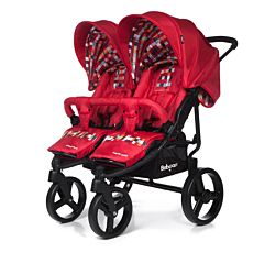 Коляска прогулочная для двойни Baby Care Cruze DUO 2017 (Red)