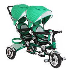 Трёхколёсный велосипед Capella Twin Trike 360 для двойни (Зеленый)