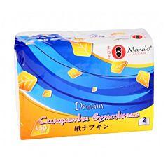 """Салфетки бумажные Maneki """"Dream"""" 2 слоя, 150 шт"""