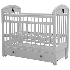 Кроватка детская Briciola 3 с продольным маятником (белая)