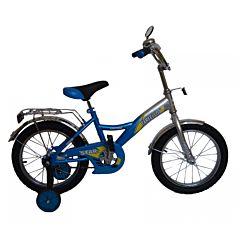 """Детский велосипед Farfello Star YF-024 12"""" (Серебристо-синий)"""