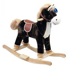 Лошадка-качалка BabyMix Oscar (темно-коричневая)