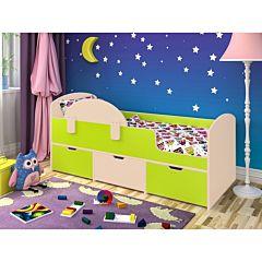 Кровать детская Ярофф Малыш Мини (дуб молочный/лайм)