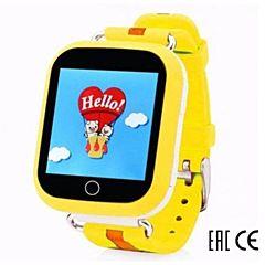 Детские часы с GPS-трекером SmartBabyWatch Q90 (желтые)