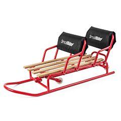 Санимобиль для двойни с колесиками Small Rider Snow Twins (красный)