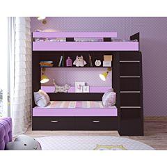 Кровать двухъярусная Ярофф Юниор-6 (венге темный/ирис)