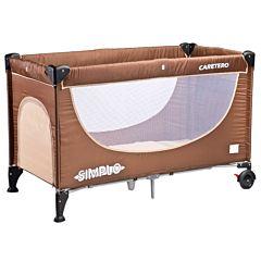 Манеж-кровать Caretero Simplo (коричневый)