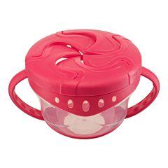 Детская тарелка Happy Baby Snack Bowl с 2 крышками (red)