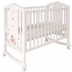 Кроватка детская Polini Classic 621 (бежево-розовая)