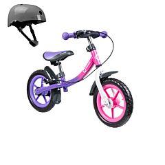 Беговел Lionelo Dan Plus со шлемом безопасности (Розовый)