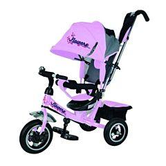 """Трехколесный велосипед Trike Flower с надувными колесами 10"""" и 8"""" (темно-розовый)"""
