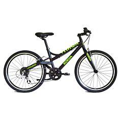 """Подростковый велосипед Kokua LiketoBike-24 Special Model Black 24"""" (черный/зеленый)"""