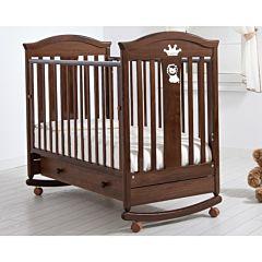 Кроватка детская Гандылян Даниэль (качалка-колесо) (орех)