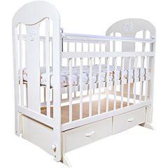 Кроватка детская Briciola 5 с поперечным маятником (слоновая кость)