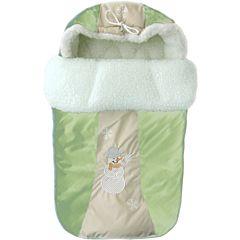 Конверт меховой зимний Little People Снежинка (зеленый)