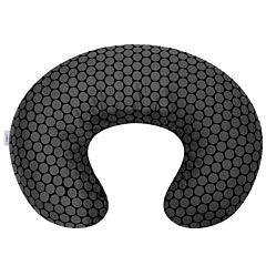 Подушка для беременных и кормящих мам Womar Zaffiro Comfort Exlusive 140 см. (графитово-черный)