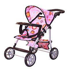 Коляска для куклы RT 9366T (розовый)